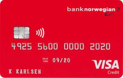Bank Norwegian: VISA